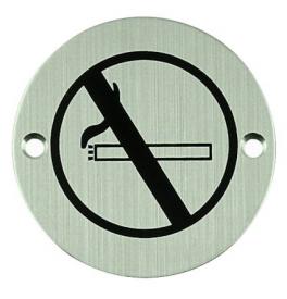 Nerezový piktogram kulatý - zákaz kouřit