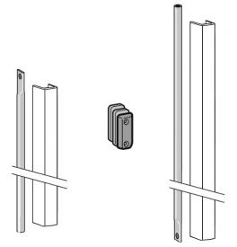 DORMA PHX 05 F - Set závory s krytem pro křídlo dveří s výškou 3400 mm