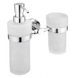 Dávkovač tekutého mýdla s pohárem na zubní kartáčky NIMCO UNIX UN 1305831W-26