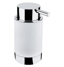 Dávkovač tekutého mýdla NIMCO LIO - Chrom lesklý / bílá