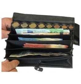 Kožená euro barmanská peněženka