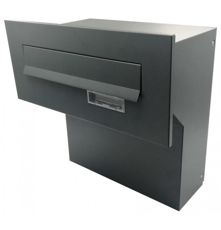 Poštovní schránka k zazdění do plotu X-FEST JAKUB 4 antracit